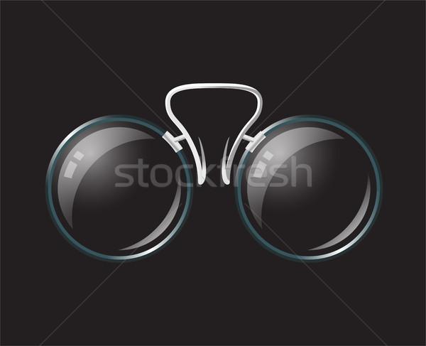 Vintage bril moderne vector realistisch geïsoleerd Stockfoto © Decorwithme