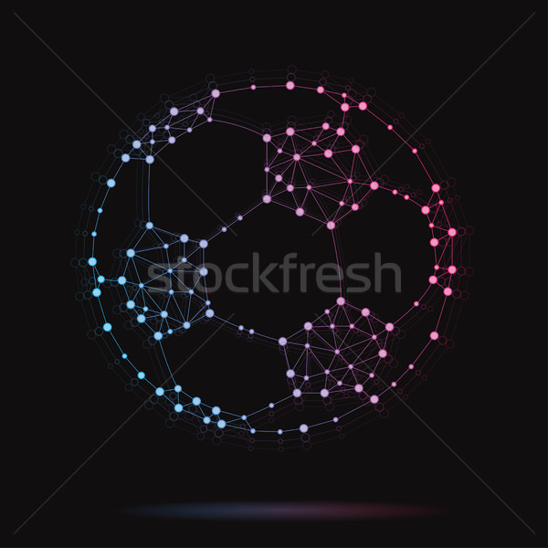 Illustration of modern vector atomic soccer ball Stock photo © Decorwithme