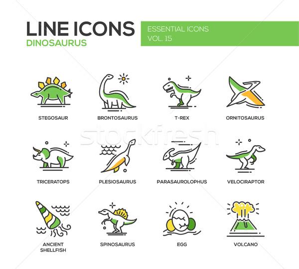恐竜 種 行 デザイン セット ストックフォト © Decorwithme