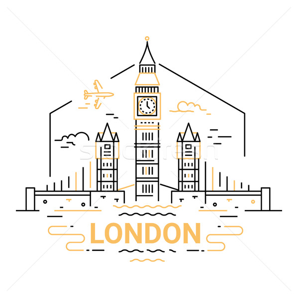 London - modern vector line travel illustration Stock photo © Decorwithme