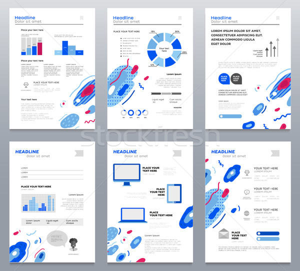 Presentation booklets - vector template a4 pages set Stock photo © Decorwithme