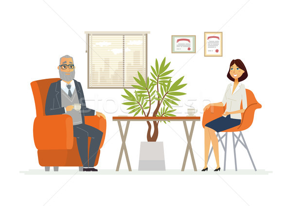 Business consultazione moderno vettore cartoon Foto d'archivio © Decorwithme