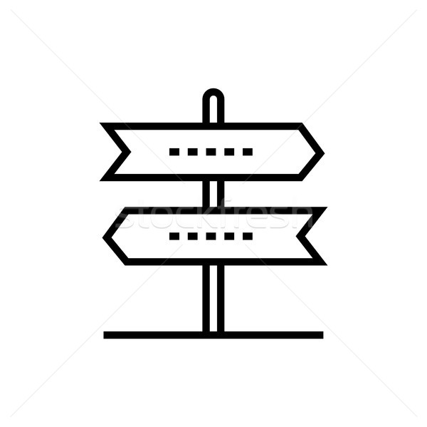 Direction arrows - line design single isolated icon Stock photo © Decorwithme