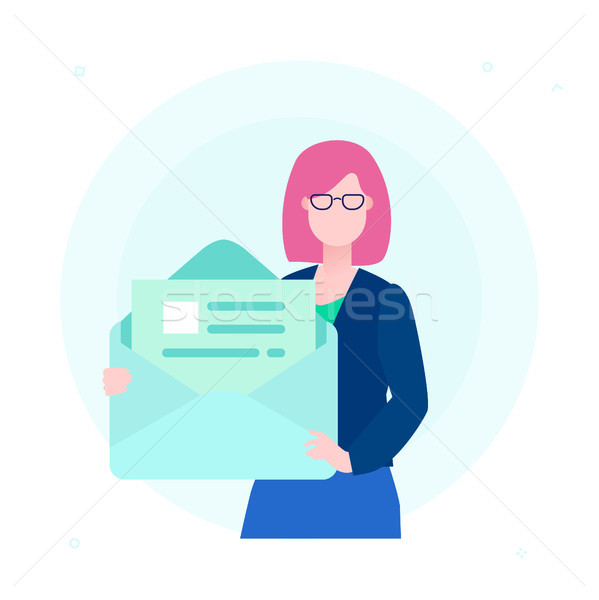 Email - flat design style colorful illustration Stock photo © Decorwithme
