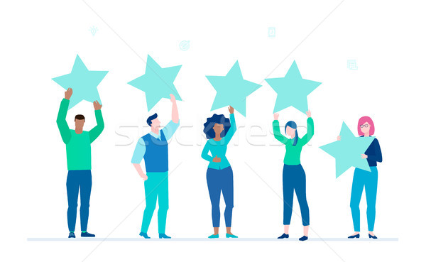 Company rating - flat design style colorful illustration Stock photo © Decorwithme