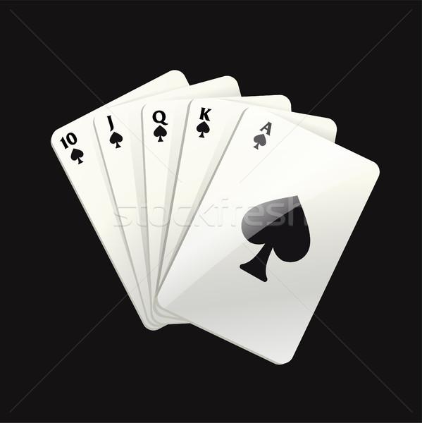 Játék fekete kártyák modern vektor valósághű Stock fotó © Decorwithme