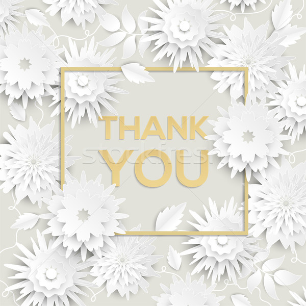 Thank you - modern vector colorful illustration Stock photo © Decorwithme