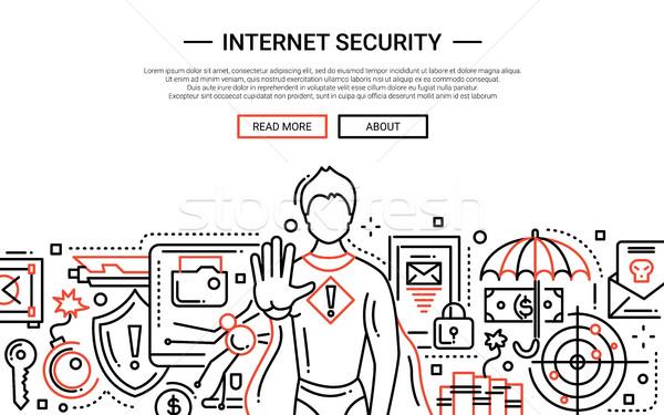 ストックフォト: インターネット · セキュリティ · 行 · デザイン · ウェブサイト · バナー