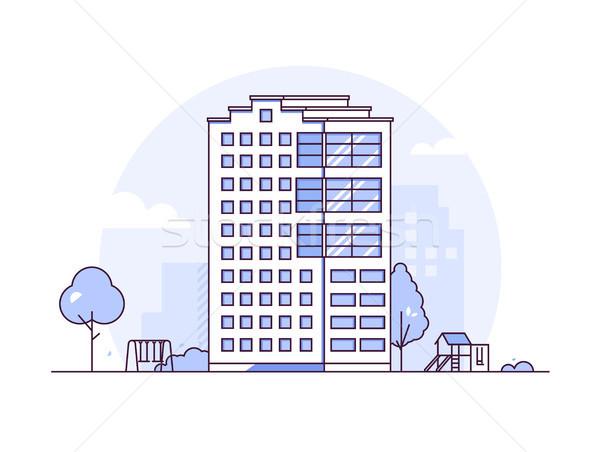 都市 風景 現代 薄い 行 デザイン ストックフォト © Decorwithme