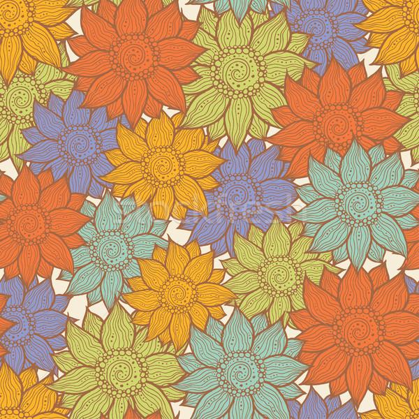Illustratie naadloos patroon vector mode Stockfoto © Decorwithme