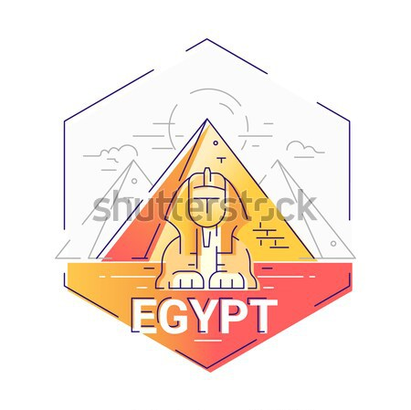 Egypt - modern vector line travel illustration Stock photo © Decorwithme