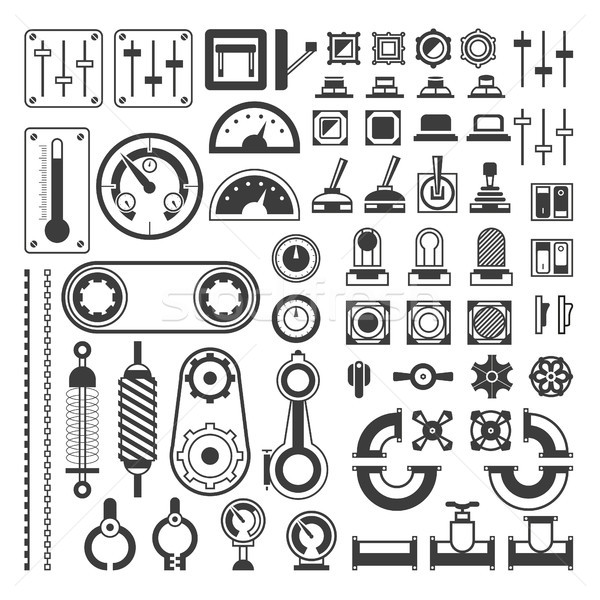 Set of measuring equipment - modern vector realistic isolated clip art Stock photo © Decorwithme