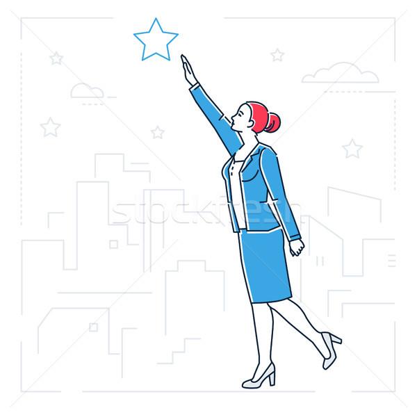 Empresária fora estrela linha projeto estilo Foto stock © Decorwithme