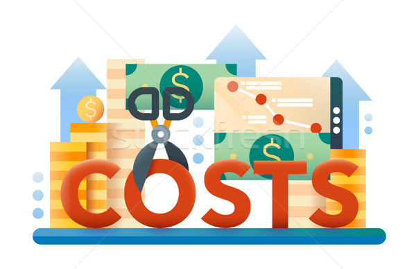 Reduce Costs - flat design website banner Stock photo © Decorwithme