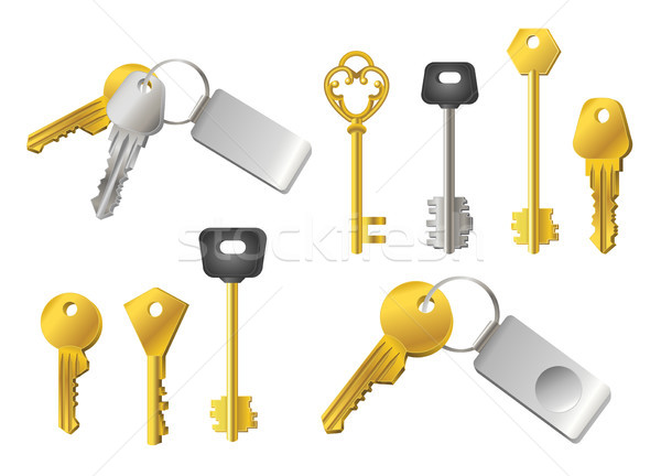 Keys - realistic modern vector set of objects Stock photo © Decorwithme