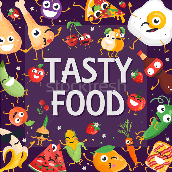 ストックフォト: おいしい · 食品 · 現代 · カラフル · 紫色 · 高い