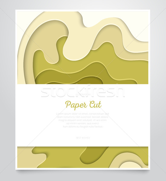 Abstract green layout - vector paper cut banner Stock photo © Decorwithme