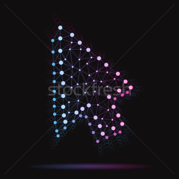 Illustration modernes vecteur atomique flèche internet Photo stock © Decorwithme