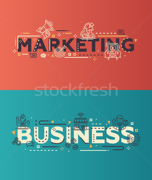 ストックフォト: 現代 · デザイン · マーケティング · ビジネス · 行 · アイコン