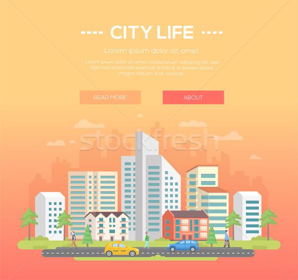 Város élet modern hely szöveg fény Stock fotó © Decorwithme