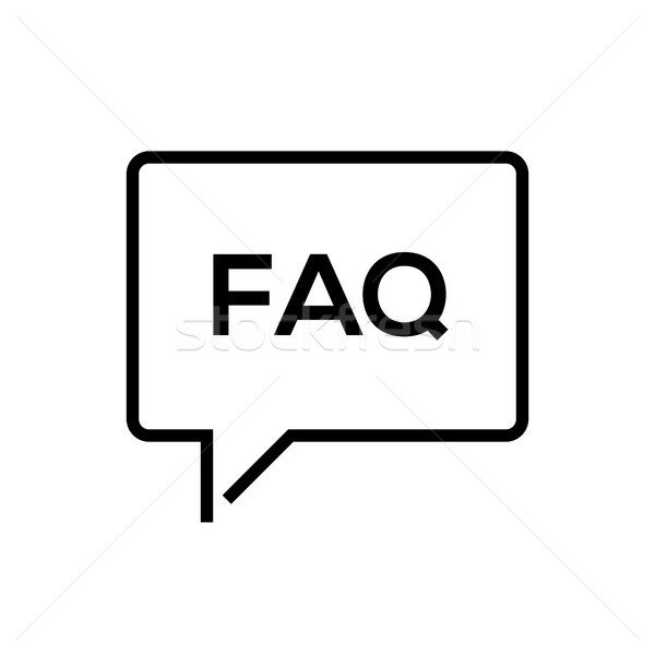 FAQ Informationen line Design isoliert Symbol Stock foto © Decorwithme