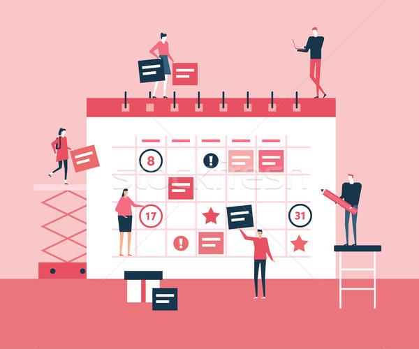 Foto stock: Negócio · planejamento · projeto · estilo · ilustração · bonitinho