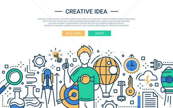 Creative Idea - line design website banner Stock photo © Decorwithme