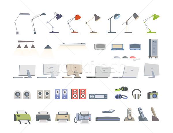 Bureau modernes vecteur couleur différent Photo stock © Decorwithme