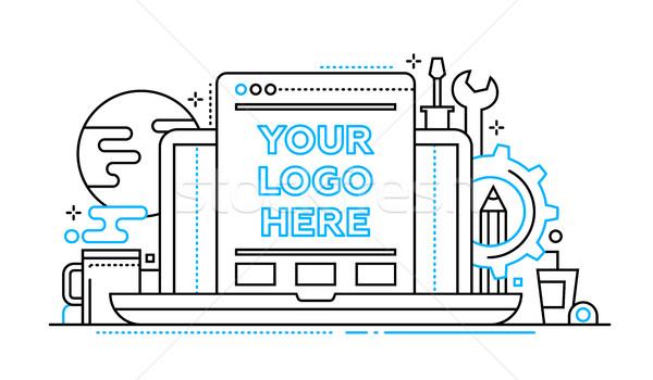 プログラミング ツール 行 デザイン コピースペース ロゴ ストックフォト © Decorwithme