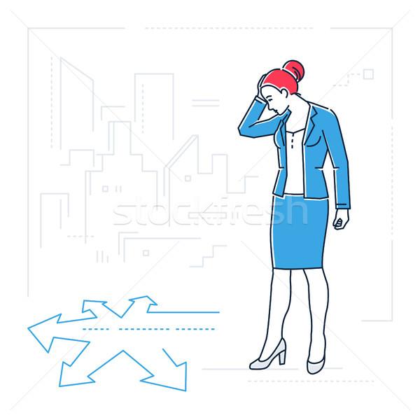 女性実業家 行 デザイン スタイル 孤立した ストックフォト © Decorwithme