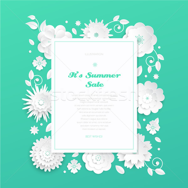 It is summer sale - modern vector colorful illustration Stock photo © Decorwithme