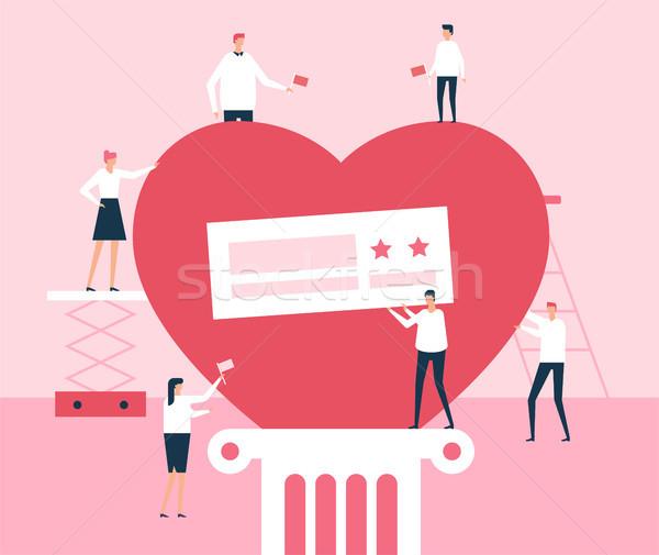 Volunteers - flat design style illustration Stock photo © Decorwithme