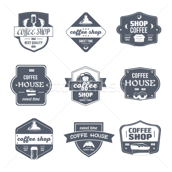 Coffee House - vintage vector set of logos Stock photo © Decorwithme