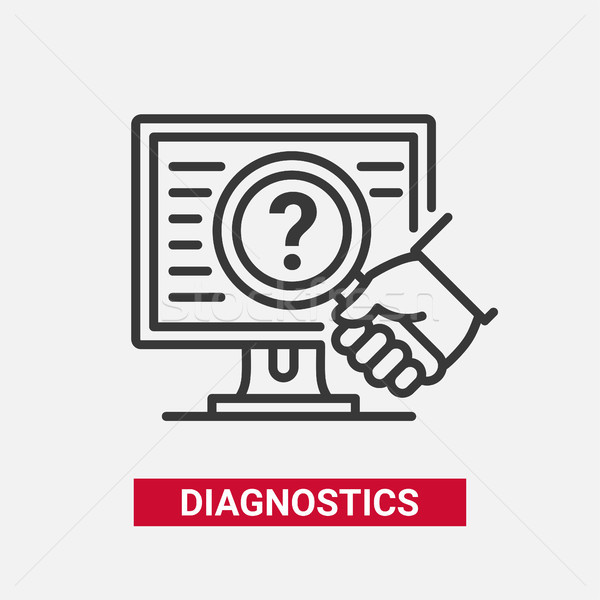 Diagnostics - modern vector line design single icon. Stock photo © Decorwithme