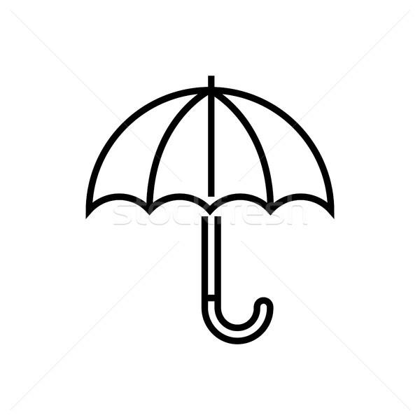 Umbrella - line design single isolated icon Stock photo © Decorwithme