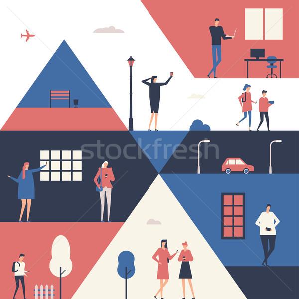ストックフォト: 人 · デザイン · スタイル · 実例 · かわいい
