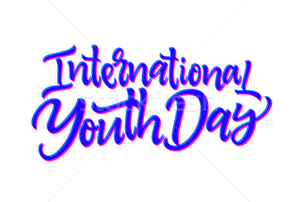 International Youth Day - vector hand drawn brush pen lettering Stock photo © Decorwithme