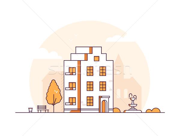 アパート 家 現代 薄い 行 デザイン ストックフォト © Decorwithme