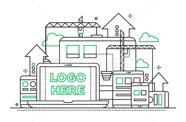 Programação ferramentas linha projeto ilustração cópia espaço Foto stock © Decorwithme