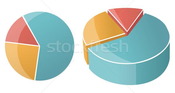 実例 ビジネス 円グラフ グラフ ベクトル 青 ストックフォト © Decorwithme
