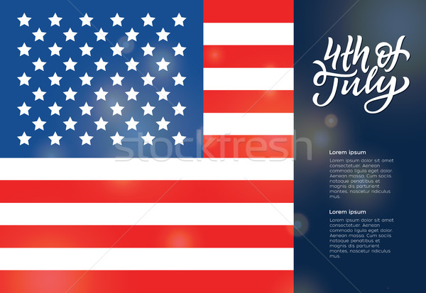 USA Independence Day Greeting Card Stock photo © Decorwithme