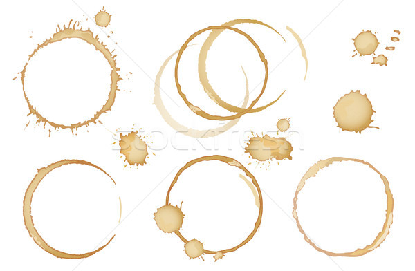 Coffee, tea stains and traces - modern vector isolated clip art Stock photo © Decorwithme