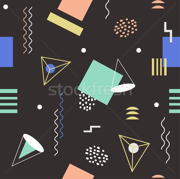 Funky seamless abstract geomertic pattern - modern material design background Stock photo © Decorwithme