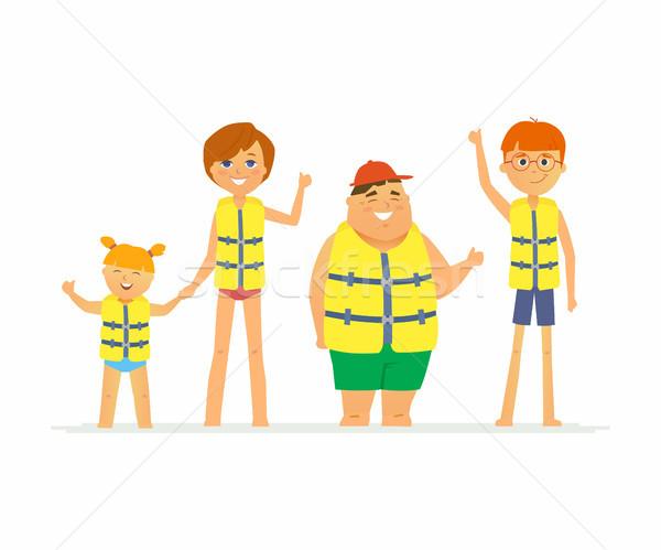 Boldog gyerekek vakáció rajzolt emberek karakter izolált Stock fotó © Decorwithme