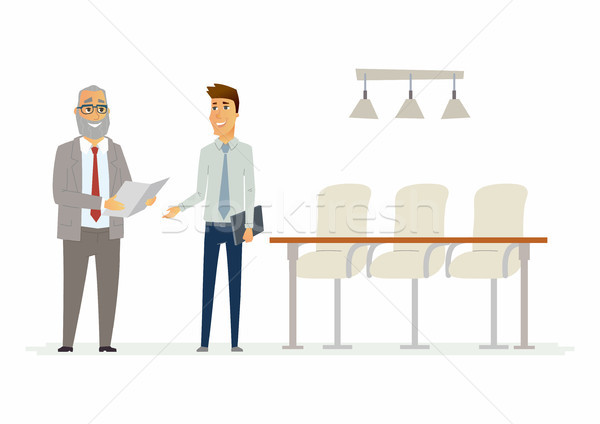 Business relationship - modern cartoon people characters illustration Stock photo © Decorwithme
