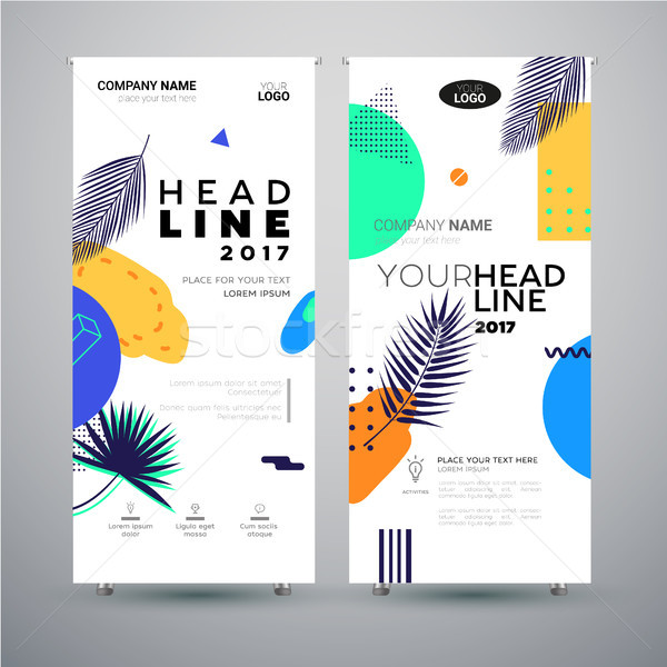 Corporate Banner - set of modern vector template abstract illustrations Stock photo © Decorwithme