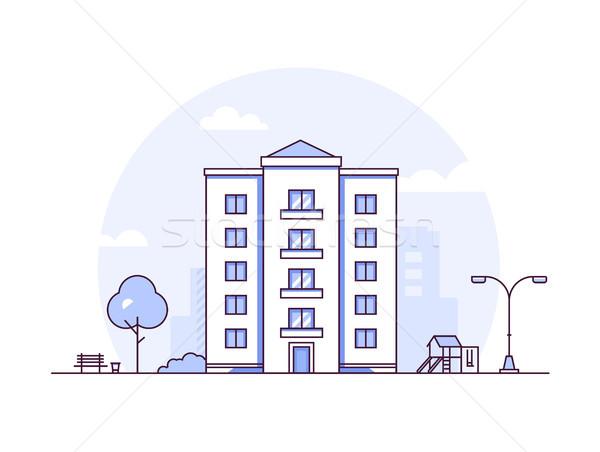 городского пейзаж современных тонкий линия дизайна Сток-фото © Decorwithme