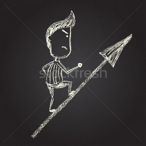 Ilustração vetor lousa homem Foto stock © Decorwithme