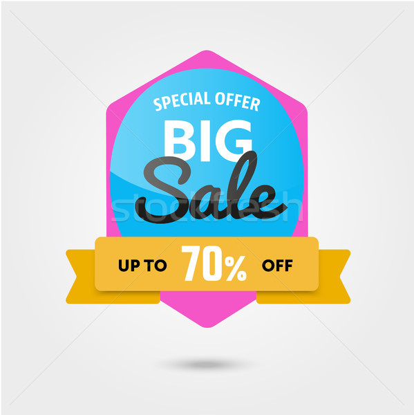 Big sale 70 off template - modern vector illustration Stock photo © Decorwithme