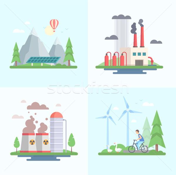 écologie modernes design style vecteur Photo stock © Decorwithme